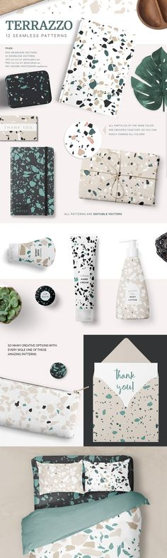 Terrazzo Patterns by Youandigraphics on @creativemarket