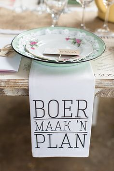 Rustic farm wedding in the Karoo. Table decor. Photo from Mariechen + Andre collection by Wesley Vorster Photography