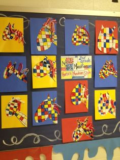 Piet Mondrian Animals | 1st Grade Lesson | Pinterest | Art ...
