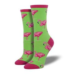 Flamingo Socks by Socksmith Fun Fact: The Robin is the state bird of Michigan. These crew socks from California designer, Socksmith, are so cool. Boot Socks, Crew Socks, Ankle Socks, Fun Socks, Silly Socks, Garter Belt And Stockings, Lace Garter, Blue Toes, How To Wear Scarves