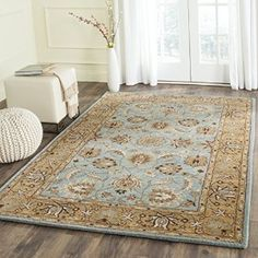 Amazon Safavieh Heritage Collection HG958A Handmade Blue And Gold Wool Area Rug