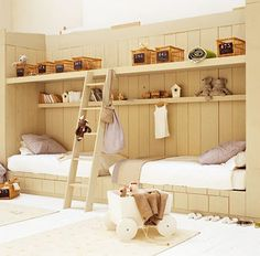 Double bed or bed and reading area.  Love the ladder to the shelf :)