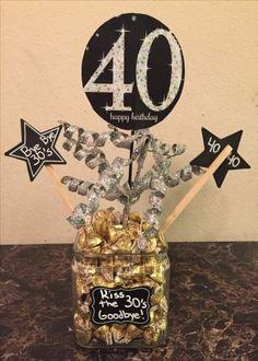 Birthday party decoracion for men centerpieces New Ideas - birthday decorations - 40th Birthday Centerpieces, 50th Birthday Party Decorations, 90th Birthday Parties, Adult Birthday Party, 40th Birthday Themes, 40th Birthday Invitations, Birthday Crafts, Mom Birthday, Happy 40th Birthday