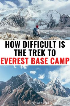 Everest Base Camp trek difficulty is often underestimated by those visiting Nepal. Here are 11 things you need to know about how hard the trek to Everest Base Camp is including altitude sickness, training, packing lists, tea houses and more! Travel Route, Asia Travel, Travel Tips, Travel Destinations, Travel Nepal, Holiday Destinations, Altitude Sickness, Everest Base Camp Trek, Nepal Trekking