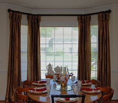 Bay Window Treatments Dining Room Bay Cornice Board With Stationery Balloons  Window Treatments