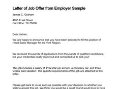job acceptance letter job offer acceptance letters tips examples template for a job