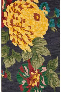 Pompom Area Rug: a floral wool rug. #HDCrugs HomeDecorators.com
