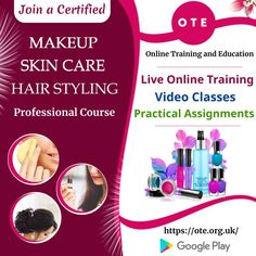 Learn all about beauty enhancement and hair styling online by joining certified makeup, skincare, and hair styling professional course offered by Online Training and Education (OTE). Hurry Up! Grab the opportunity to become certified beautician.