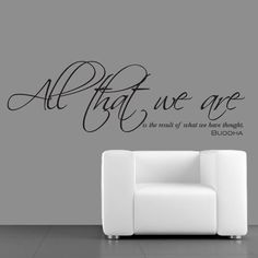 0244 - All That We Are - Buddha Quote - Vinyl Wall Art - Sticker #AntWorkLtd