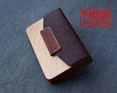 business card case leather business card holder business gifts wood business card organizer wooden cardholder men women leather card case