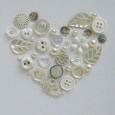 botones, corazones