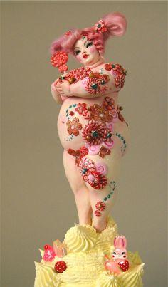 Nicole West - chubby candy goddess - plus positive doll Toy Art, Big And Beautiful, Beautiful Dolls, Frida Art, Plus Size Art, West Art, Polymer Clay Dolls, Creepy Dolls, Fat Women