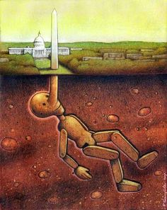 These 29 Clever Drawings Will Make You Question Everything Wrong With The World - Polish artist Pawel Kuczynski has worked in satirical illustration since specializing in thought-provoking images Art And Illustration, Street Art, Art Postal, Satirical Illustrations, Art Illustrations, Powerful Art, Powerful Images, Political Art, Political Issues