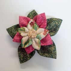 How to make the most of printed fabric to create stunning fancy Kanzashi fabric flowers.