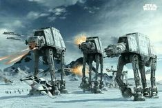 1 X Posters: Star Wars Poster - AT-AT Walkers In The Frozen Hoth Landscape x 24 inches) from Poster Art House Disc: Affiliate Link Star Wars Room, Star Wars Art, Walker Star Wars, At At Walker, Images Star Wars, Star Wars Vehicles, Poster Store, Star Wars Tattoo, Star Wars Wallpaper