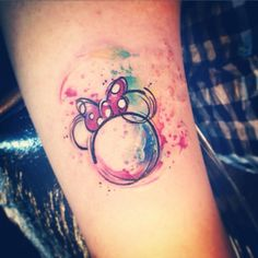 Minnie tattoo watercolor Carolina Avalle