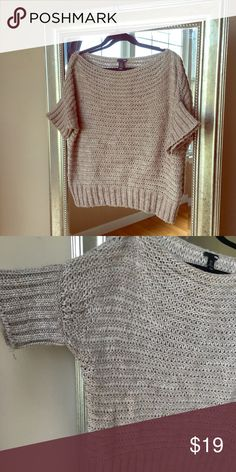 H&M lightweight short sleeve baggy sweater Cute lightweight baggy sweater.  Sleeve hem comes to the elbow.  In great condition! H&M Sweaters Crew & Scoop Necks