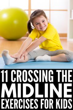 OT at home: 11 crossing the midline exercises for kids Occupational Therapy Activities, Exercise Activities, Gross Motor Activities, Physical Education Games, Art Therapy Activities, Gross Motor Skills, Sensory Activities, Physical Activities, Learning Activities