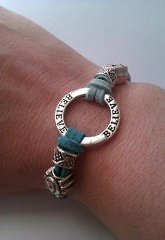 Affirmation Bracelet Believe Charm and European Charms