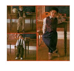 90s BOYS SUSPENDER PANTS Shirt Vest & Neck Tie Pattern Size 5 6 7 8 Chest 24 25 26 27 Simplicity 8567 k.p Kid's by DesignRewindFashions vintage & modern sewing Patterns