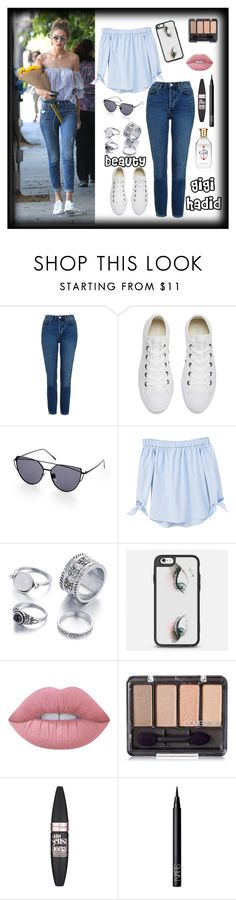 """love her"" by ambershad ❤ liked on Polyvore featuring Topshop, Converse, MANGO, Casetify, Lime Crime, Maybelline and NARS Cosmetics"