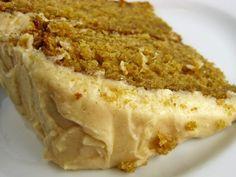 Mmmm. Caramel Apple Cake! Apple cake with a caramel sauce and Caramel buttercream.