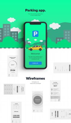 App design using NFC scenario at automated Parking without human factor. Developed for the Middle East clients. Android App Design, Ios App Design, Flat Web Design, User Interface Design, Android Ui, Parking App, Parking Space, Ui Design Mobile, Mobile Ui Patterns