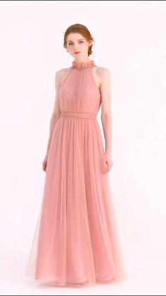 new arrival dusty rose tulle bridesmaid dresses 2019 - anina Tulle Skirt Dress, Taffeta Dress, Satin Dresses, Ball Dresses, Chiffon Dress, The Dress, Ball Gowns, Evening Dresses, Prom Dresses