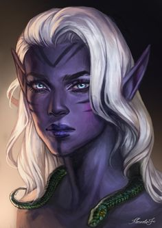 marcelafreireart: Portrait Commission of Altea - Dark Elf Girl Elf Characters, Dungeons And Dragons Characters, Fantasy Characters, Fantasy Portraits, Character Portraits, Character Art, Character Ideas, Fantasy Races, Fantasy Rpg