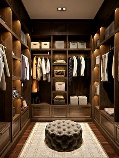 Walk-in closets that will leave you breathless and feature designs that can fit any budget. Walk-In Wardrobe Ideas #walkincloset #wardrobe #closet #bedroomdesign #closetideas #dressingroom #onbudget