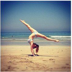 #Beach #Gymnastics #DefyingGravity