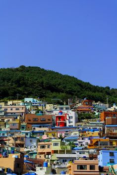 Colorful Village and the sky, In Gamcheon Culture Village (감천마을) Busan, South Korea South Korea Travel, Asia Travel, Village Photography, Travel Photography, Mexican Colors, Korea Trip, City Architecture, Travel Aesthetic, Busan