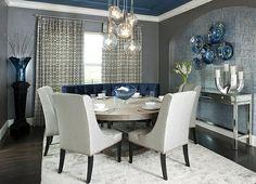 50 Einrichtungsideen für kleine Esszimmer - esszimmer esstisch stühle akryl stühle polsterung teppich