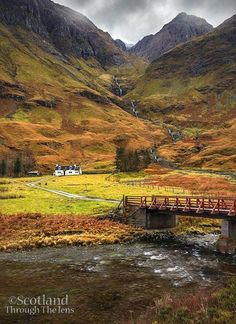 Glencoe the bridge to the falls