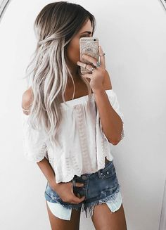 61 Ombre Hair Color Ideas That You Will Absolutely Love - New Hair Styles 2018 Ombré Hair, Hair Dos, New Hair, Summer Hairstyles, Trendy Hairstyles, Bohemian Hairstyles, Bohemian Braids, Fashion Hairstyles, Curly Hairstyles