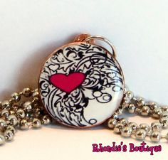 Tangled Heart Penny Pendant by rhondiesboutique on Etsy, $6.00