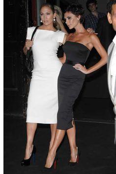 jlo fashion line | Jennifer Lopez and Victoria Beckham at the Marc Jacobs Fashion Show ...
