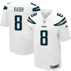 d84410c9a Men s Nike Los Angeles Chargers  8 Drew Kaser Elite White NFL Jersey San  Diego Chargers