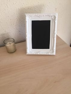 Handmade Vintage Shabby Chic Chalkboard 6x4 Frame Table Setting Home Decor