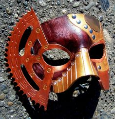 Brazen Punk - Handmade Steampunk Leather Mask. $110.00, via Etsy.