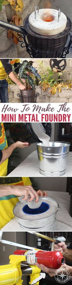 How To Make The Mini Metal Foundry — I have been sharing great DIY articles for years now so I thought I had pretty much seen all there is in regards to DIY projects but boy was I wrong! This DIY mini foundry project is easy and cheap to make and best of all, you can cast your own aluminum from old soda cans.