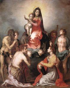 Andrea del Sarto - Madonna in Glory and Saints