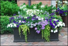 love the colors in this planter, Good Life Design Blog.