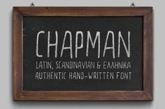 Chapman Handwritten Font by Elegrad Design Agency on @creativemarket