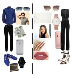 """""""date night #5"""" by jazzjohnson-1 on Polyvore featuring Topman, Vivienne Westwood, Versace, Nixon, Chrome Hearts, American Coin Treasures, Native Union, Balmain, Gianvito Rossi and Gucci"""