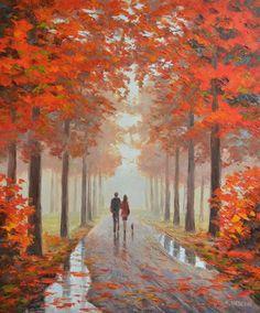 Between Autumn Colors by Rimantas Virbickas