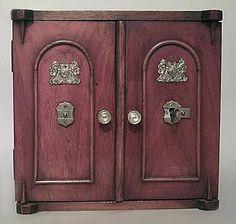 English Regency accessories miniature furniture walnut