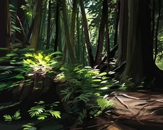 Nature paintings Digitally done though Paint Tool Sai Fantasy Landscape, Landscape Art, Fantasy Art, Environment Concept Art, Environment Design, Green Environment, Landscape Illustration, Environmental Art, Nature Paintings