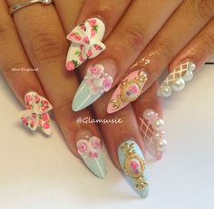 nail art by glamsusie | via http://mysupersweetnails.tumblr.com/