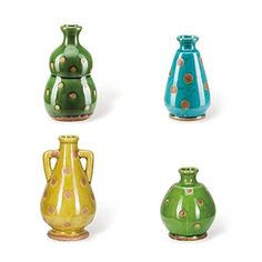 Foreside Home and Garden Ceramic Cool Polka Dot Vases, Set of 4 -- For more information, visit image link. (This is an affiliate link) #Vases
